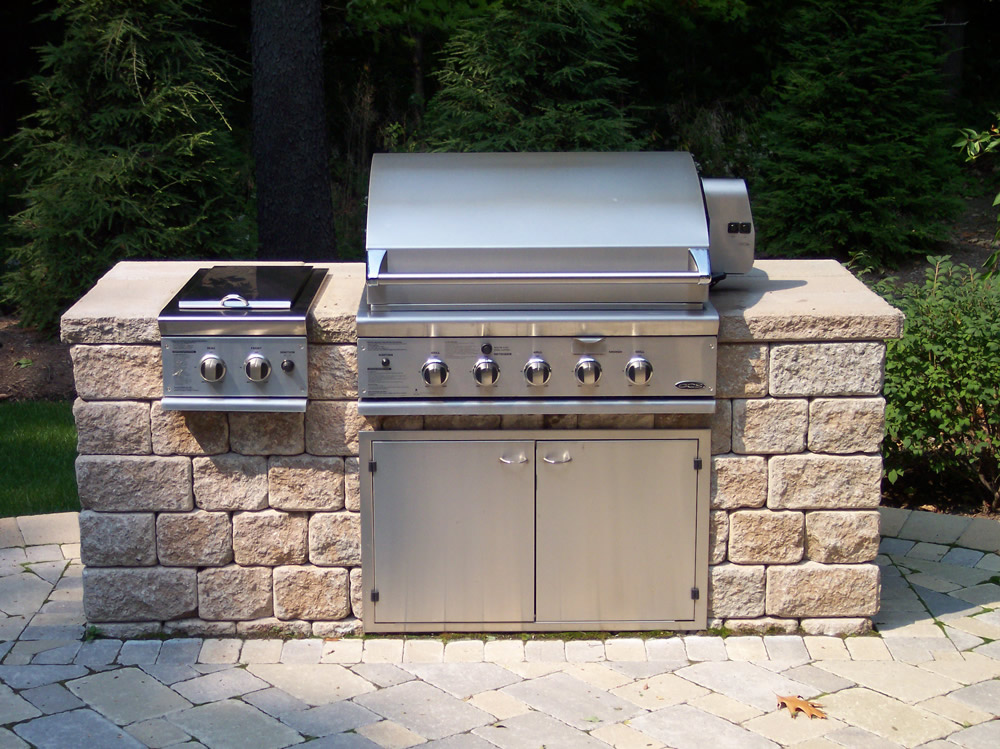 Exterior masonry services in albuquerque lujan sons for Outdoor kitchen grill cabinets